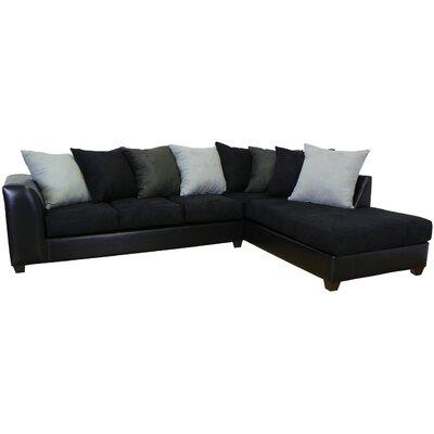 Burwood Sectional Upholstery: Black/Black/Graphite/Lightning