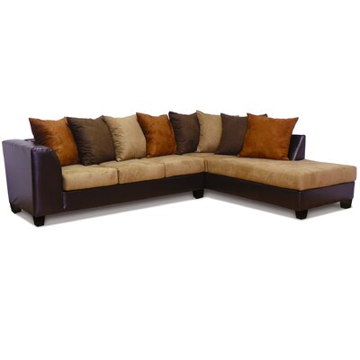 Burwood Sectional Upholstery: Chocolate/Mocha/Java/Cinnamon