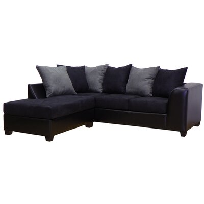 Overbey Left Hand Facing Sectional Color: San Marino Black / Bulldozer Black / Graphite RDBS1621 27710992