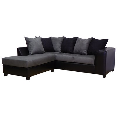 Overbey Sectional Color: San Marino Black / Bulldozer Graphite / Black