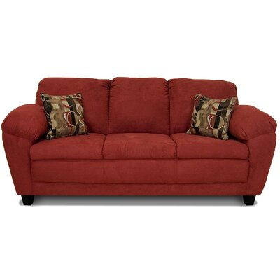 Curren Sofa Upholstery: Bulldozer Burgundy