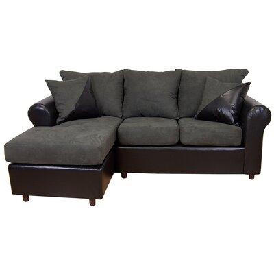 Millersburg Sectional Upholstery: Bulldozer Graphite/San Marino Black