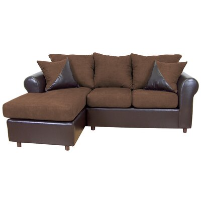 Millersburg Sectional Upholstery: Bulldozer Java/San Marino Chocolate