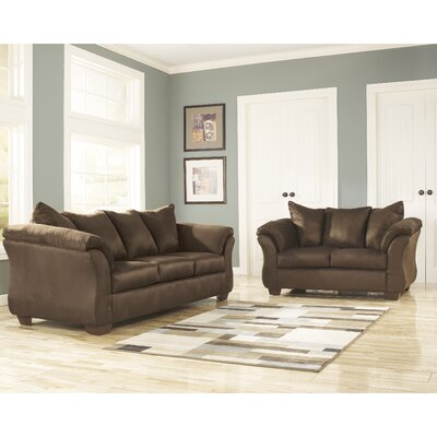 Chisolm 2 Piece Living Room Set Color: Cafe