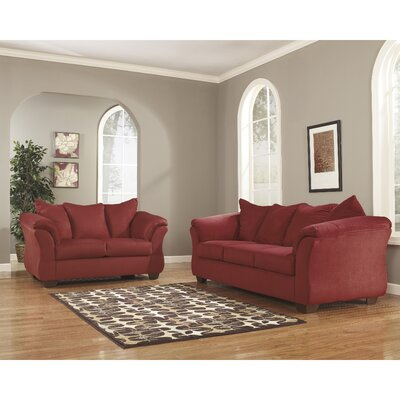 Lavery 2 Piece Signature Design by Ashley Living Room Set Color: Red