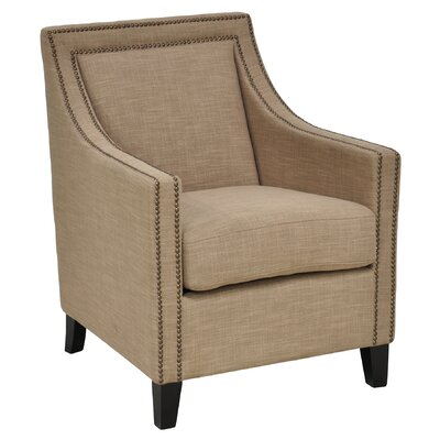 Deshi Bay Arm Chair Upholstery: Camel
