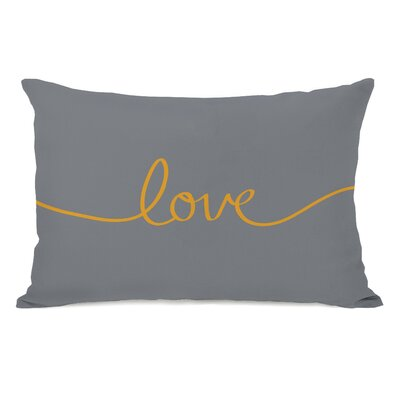 Northwest Peaks Lumbar Pillow Color: Gray Orange