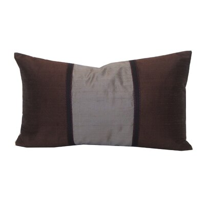 Shebeen Silk Lumbar Pillow Color: Chocolate and Light Brown