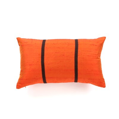Shebeen Silk Lumbar Pillow Color: Orange