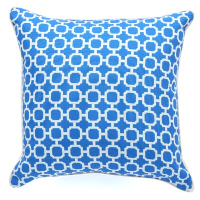Hazlewood Outdoor Throw Pillow Color: Blue