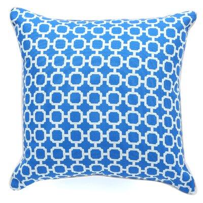 Hazlewood Outdoor Throw Pillow Color: Blue