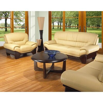 Clauderson Leather 3 Piece Living Room Set