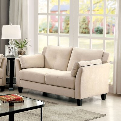 Chandeleur Contemporary Tufted Loveseat Upholstery: Beige