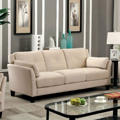 Chandeleur Contemporary Tufted Sofa Upholstery: Beige