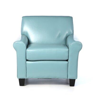Biloxi Armchair Upholstery: Teal Blue