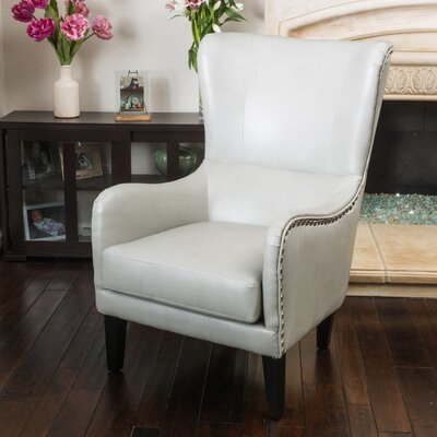 Full Sail High Back Wingback Chair Upholstery: Light Grey