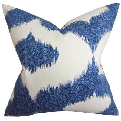 Otter Creek Ikat Throw Pillow Color: Blue Denim, Size: 18 H x 18 W