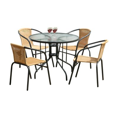 Overshores 5 Piece Dining Set Finish: Charcoal