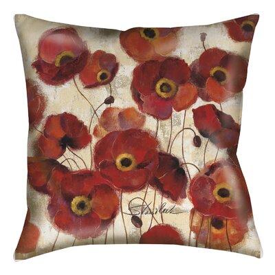 Loudoun Poppies Printed Throw Pillow Size: 26 H x 26 W x 7 D