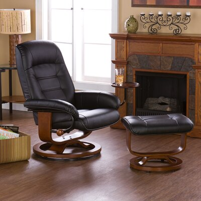 New Republic Manual Swivel Swivel Glider Recliner With Ottoman