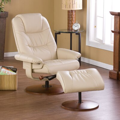 Fin City Manual Recliner With Ottoman