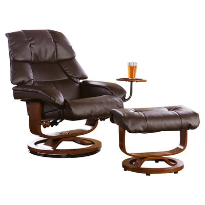 Beltway Manual Swivel Glider Recliner With Ottoman