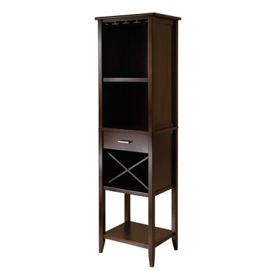 Renfroe 12 Bottle Floor Wine Cabinet