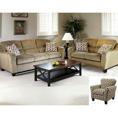 Serta Upholstery Pennsylvania Queen Sleeper Sofa Upholstery: Elizabeth Khaki / Confetti Multi