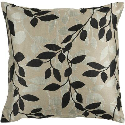 Midnight Flowering Throw Pillow Size: 18 H x 18 W x 4 D, Color: Teal / Gray / Cream, Filler: Down