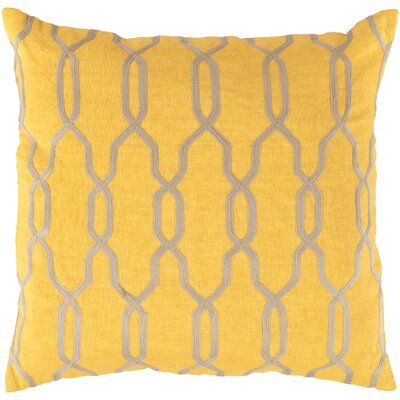 Edgell Geometric Throw Pillow Size: 18 H x 18 W x 4 D, Color: Golden Rod/Parchment, Filler: Polyester