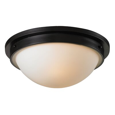 Saylors 2-Light Flush Mount Finish: Oiled Bronze
