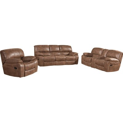 Red Barrel Studio RDBS1065 27120490 Hattiesburg 3 Piece Rocking Reclining Living Room Set