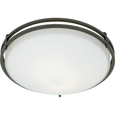 Black Birch 2-Light Flush Mount Size: 5.5, Finish: Iron Gate