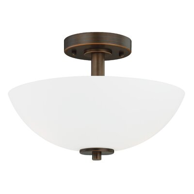 Listermann 1-Light Semi-Flush Mount Finish: Sienna Bronze
