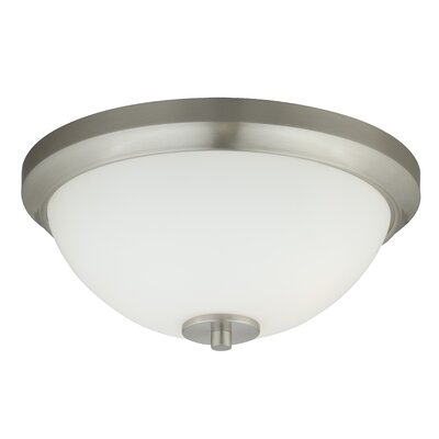 Listermann 1-Light Flush Mount Finish: Satin Nickel