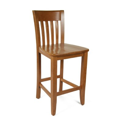 Baldemar 24 Bar Stool Finish: Cherry