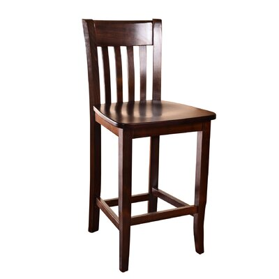 Baldemar 24 Bar Stool Finish: Mahogany
