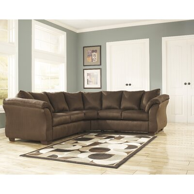 Lavery Yards Sectional Upholstery: Caf� RDBS2361 27984452