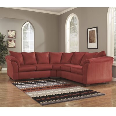 Chisolm Yards Sectional Upholstery: Red