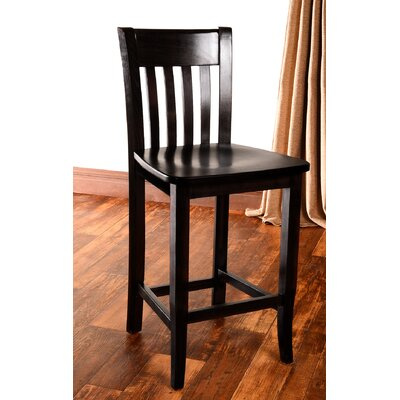 Baldemar 24 Bar Stool Finish: Black
