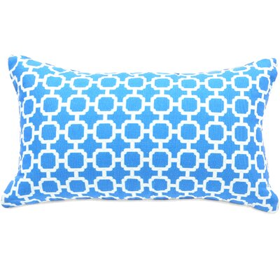 Hazlewood Outdoor Lumbar Pillow Color: Blue