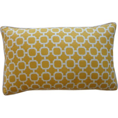 Hazlewood Outdoor Lumbar Pillow Color: Yellow