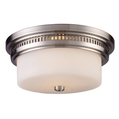 Rukaiya 2-Light Flush Mount Finish: Satin Nickel