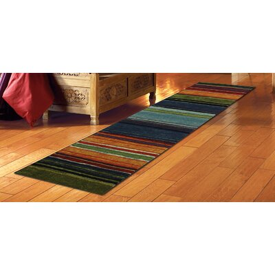 Bartlett Las Cazuela Blue/Orange Area Rug Rug Size: Runner 2 x 8