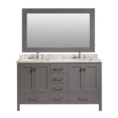 Middletown 60 Double Bathroom Vanity Set with Mirror