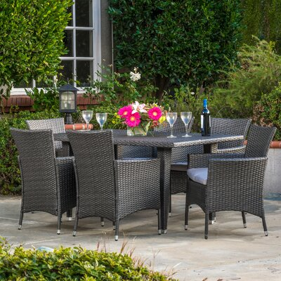 Isiah 7 Piece Dining Set with Cushion
