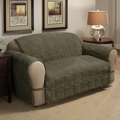 DuVig Loveseat Slipcover Upholstery: Sage