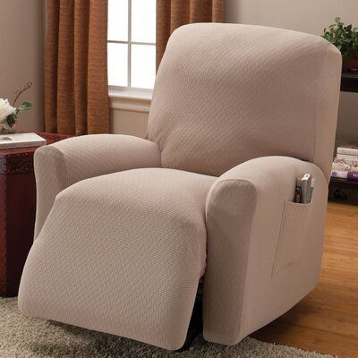 Naples Box Cushion Recliner Slipcover Color: Natural