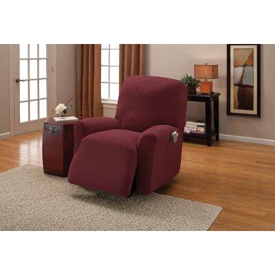 Naples Box Cushion Recliner Slipcover Color: Garnet