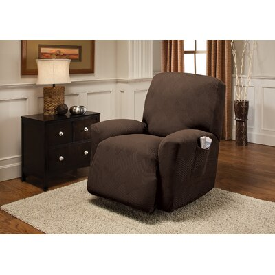 Madden Recliner Slipcover Upholstery: Chocolate